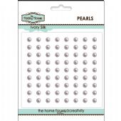The Hobby House Self Adhesive Pearls - 4mm Ivory Silk - HH415